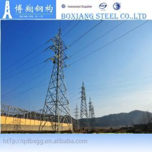 China 132kv steel power transmission line tower on sale