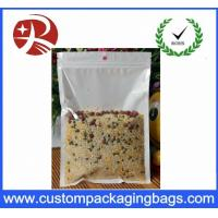 Buy cheap Resealable Plastic Ziplock Bags Food Packing oil proof Pure Front Transparent product