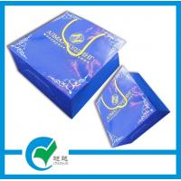 Quality Custom glossy paper gift bags with ribbon handle wholesale