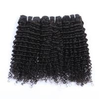 China Wholesale Cheap Brazilian Hair Black Color  Jerry Curl Hair weaving 100% Remy Virgin Human Hair Extension on sale
