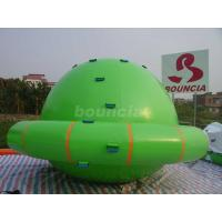 Quality Green Color Commercial Grade PVC Tarpaulin Inflatable Saturn Rocker wholesale