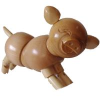 Cheap PROMOTION!! THERE ARE SOME ARTIST WOODEN PIGS/RABBITS/GRAGONS/LIZARDS FOR SALE for sale