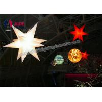 Quality 3M Inflatable LED Star Colored LED Lights With Flowers For Celebration wholesale