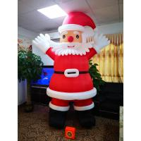 China Small Pneumatic Christmas Inflatable Fan Built In Cartoon Fan Plastic Shell on sale