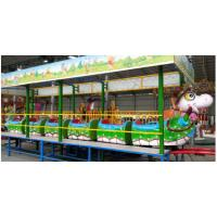Quality 1.9m Height Mini Roller Coaster 4 - 7km/H Speed 1.4 Meters Track Width ISO9001 wholesale