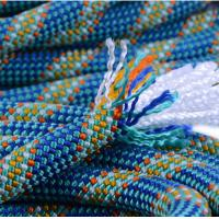 Cheap high quality 10.5mm polyester safery braided rope used for mountain climbing and for sale