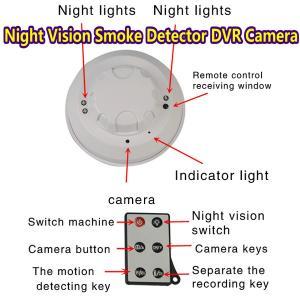 Quality Remote Control Smoke Detector Covert Hidden Spy DVR Camera W/ Night Vision+Motion Detect wholesale