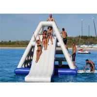 China High Class Giant Inflatable Water Slide , Inflatable Floating Water Slide For Seaside on sale