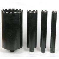 Quality Black Wet Diamond Core Drill Bit , Diamond Hole Saw For Reinforcement Concrete wholesale