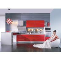 Quality Tranditional Chinese Red Modern Kitchen Cabinets , Closeout Kitchen Cabinets wholesale