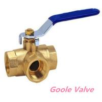 Quality Manual handle Three way brass ball valve wholesale