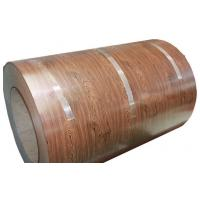 China Full Hard HB PPGI Wooden Color Coated Steel Coil Construction Materials on sale