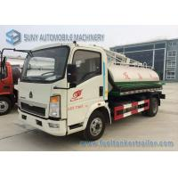 Quality 6000L Sinotruk Howo Light Series Sanitation Truck , 4x2 Vacuum Sewage Suction Truck wholesale