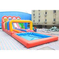 Quality 0.5mm PVC Inflatable Four lanes Colorful Slide , Inflatable Water Slide wholesale