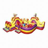 Quality Inflatable Obstacle, Circus-Themed, Combined with Inflatable Slide and Bouncer wholesale
