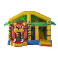 China 5X6 Meter Inflatable Bouncer Castles / Little Lion Theme Inflatable Slide Combo on sale