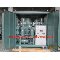 Quality High vacuum Transformer oil purifier used for filtration, dehydration and degasification for power Transformer wholesale