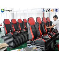 Quality Attractive Entertainment Project 6D Cinema Equipment With Red 4 Seats Per Set wholesale