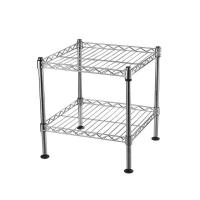 """China 2 Tier 12"""" Deep Chrome Light Duty Home Kitchen Wire Shelving Units With NSF Certification on sale"""
