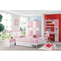 Cheap Good Quality Pink Color Girls Wholesale Kids Bedroom Furniture