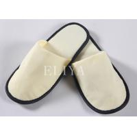Quality Non-Slip Cotton Hotel Brushed Fabric Closed Toe Slippers , Hotel Disposable Shower Shoes wholesale