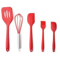 Quality High Quality Silicone Kitchen Utensil Set 5 Piece Cooking Tools Utensils Brush Kitchen Accessories wholesale