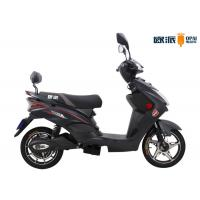 China Black Pedal Electric Scooter Bike With LCD Speedmeter Rear Backrest on sale