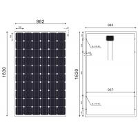 Quality Full Power Mono PV Module 60 Cells Black Frames Boost Bearing Capability wholesale