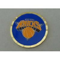 China New York KNICKS Basketball Coins With Soft Enamel / Gear Edge on sale