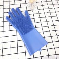 Quality Best Amazon Hot Heat Resistant Kitchen Five Finger Barbecue Grilling Rubber Silicone Oven Reusable Cooking BBQ Glove for cooking wholesale