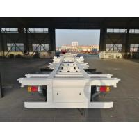 China 2 Axle Container Skeleton Heavy Duty Semi Trailers With Led Light on sale