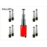 Buy cheap 3 / 4 Stage Telescopic Hydraulic Ram / Single Acting Hydraulic Cylinders for Dump Truck from wholesalers