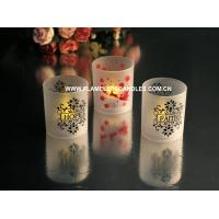 Quality Battery Operated LED Frosted Flickering Votive Candles Cup Shape Amber or Color Changing wholesale