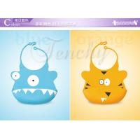 Quality 2014 New Design Beautiful Cute Silicone Baby Bib wholesale