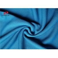 China Blue Polyester Shirt Mesh Pique Fabric Silk Jersey Knit Strip Fast Breathable Viscose on sale