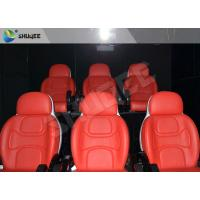 Quality Hydraulic Dynamic 5D Theater System Red Motion Chairs With Special Effect wholesale