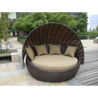 Outdoor Rattan Furniture , Aluminium Frame Resin Wicker Daybed