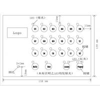 Thin Film Embossed LED Membrane Switch PC / PET Membrane Touch Switch Keypad
