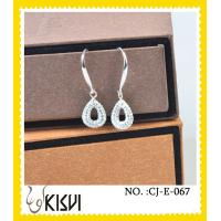 Quality 2012 charming crystal & rhinestone tear - shaped handcrafted crystal earings wholesale