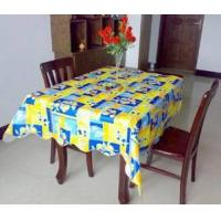 Quality Printed PVC table cloth with flannel wholesale