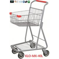 Quality Chrome Plating Grocery Shopping Trolley 40L / Supermarket Shopping Carts wholesale