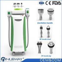China CEFDA approved Nubway promotion Crolipo fat freeze cavitation slimming machine with 5 cryolipolysis weight loss handles on sale