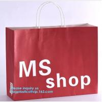 Quality Luxury Recycled Printing Logo Shopping Pack Custom Paper Bag Shopping Bag With Logo,Carrier Ribbon Tie Gift Shopping Pap wholesale
