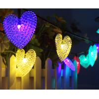 China 30LED Solar Light String Heart Shape Modeling Christmas decoration string Lights Outdoor Waterproof Garden Lamp on sale