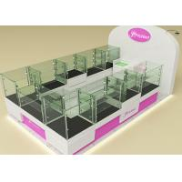 Quality Fully Lockable Wood Glass Jewelry Showcase Kiosk , Retail Commercial Display Cases wholesale