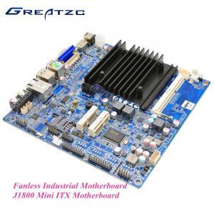 Intel J1800 Fanless Industrial Motherboard , Fanless ITX Motherboard VGA / HDMI / LVDS