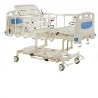 Quality Durable Long Life Manual Hospital Bed Five Functions , Hydraulic Care Bed Nursing Care Bed wholesale