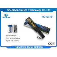 Buy cheap Portable Police Metal Detectors , Security Wand Metal Detectors With Alarm System from wholesalers