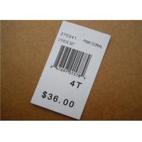 Quality White Clothing Brand Tags / Paper Garment Hang Tags For Clothing wholesale