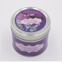 Buy cheap Grape Wine Art Candle Custom Paraffin Wax Scented Tin Candle with color label from wholesalers